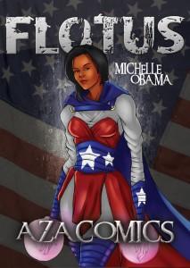 Michelle Obama Superhero Aza Comics